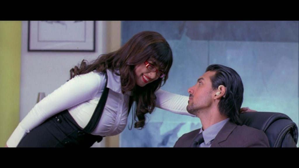 John Abraham and Ayesha Takia in No Smoking (2007)-cinemabaaz.xyz