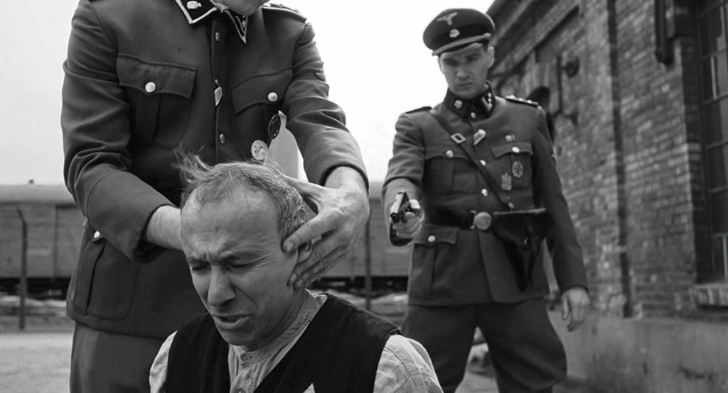 Ralph Fiennes and Ezra Dagan in Schindler's List (1993)
