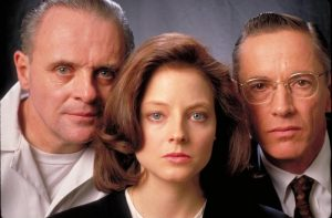 Jodie Foster, Anthony Hopkins, and Scott Glenn in The Silence of the Lambs (1991)-cinemabaaz.xyz