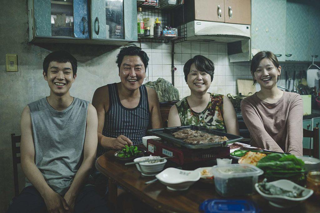 Kang-ho Song, Hye-jin Jang, Woo-sik Choi, and So-dam Park in Gisaengchung (2019)-cinemabaaz.xyz