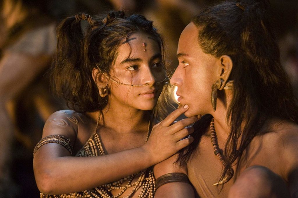 Rudy Youngblood and Dalia Hernández in Apocalypto (2006)-cinemabaaz.xyz