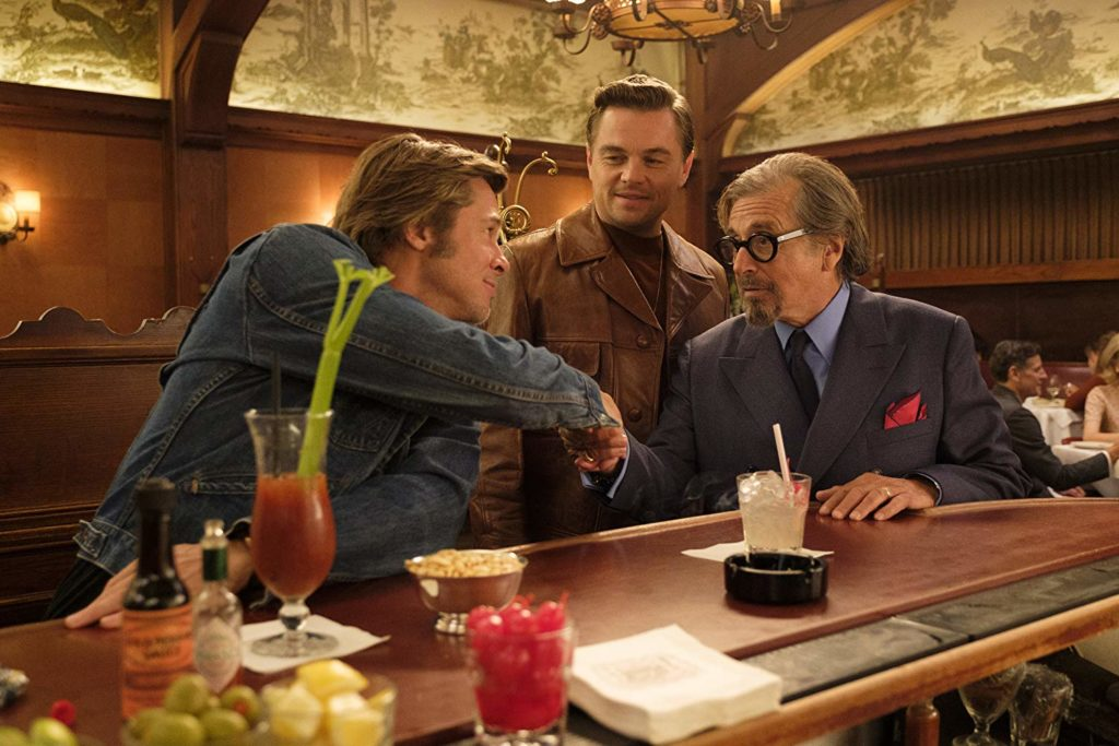 Brad Pitt, Leonardo DiCaprio, and Al Pacino in Once Upon a Time in Hollywood (2019)-cinemabaaz.xyz