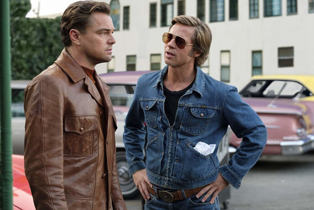 Brad Pitt and Leonardo DiCaprio in Once Upon a Time in Hollywood (2019)-cinemabaaz.xyz
