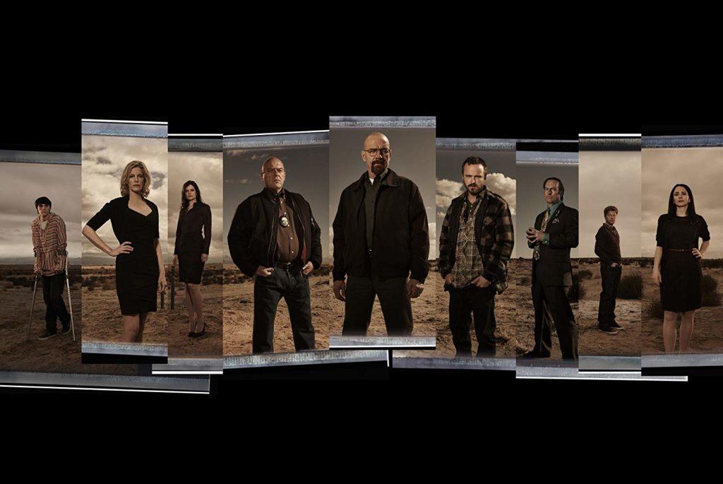 Bryan Cranston, Laura Fraser, Anna Gunn, Dean Norris, Bob Odenkirk, Jesse Plemons, Marie Schrader, Betsy Brandt, and RJ Mitte in Breaking Bad (2008)-cinemabaaz.xyz