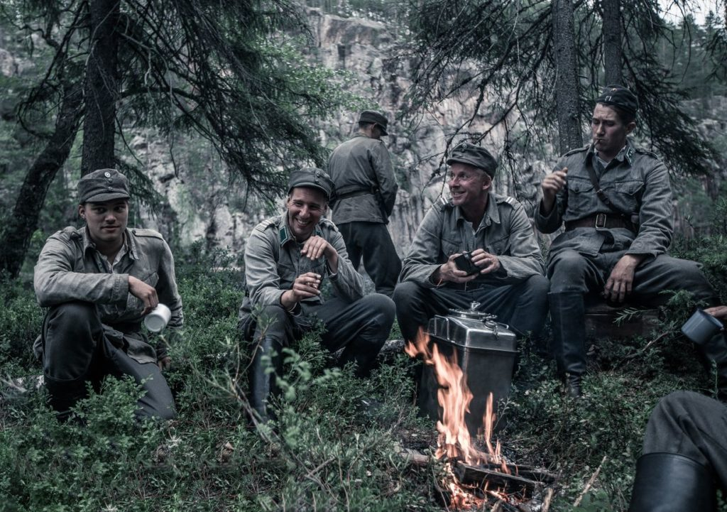 Eero Aho, Aku Hirviniemi, Jussi Vatanen, and Akseli Kouki in The Unknown Soldier (2017)-cinemabaaz.xyz